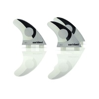 SURFBOARD FINS DOUBLE CARBON SD1 FCS COMPATIBLE SURFDUST