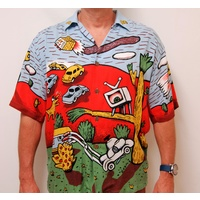 SOLD ... MAMBO LOUD SHIRT SHORT SLEEVE LOST WEEKEND REG MOMBASSA