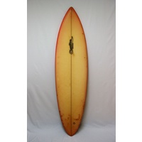 SOLD ... CLEARLINE MURAL SINGLE FIN SURFBOARD