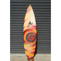 "ALOHA 5'10"" thruster NATHAN HEDGE PRO BOARD retro surfboard"