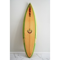 "SOLD ... HOT STUFF RABBIT BATHOLOMEW SINGLE FIN 6'4"" SURFBOARD"