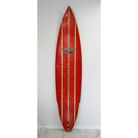 SOLD ... ERLE PETERSEN JET BOTTOM BLACK WIDOW 8' retro surfboard