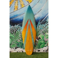 "SOLD ... NIRVANA THRUSTER 5'10"" retro surfboard"