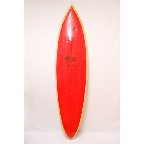 SOLD ... GOODTIME SINGLE FIN SURFBOARD 6'8""