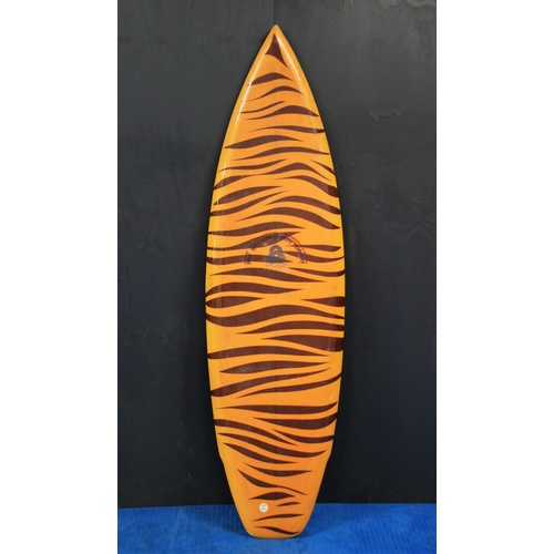SOLD ... HOT BUTTERED MURAL SURFBOARD shaped by Greg Webber